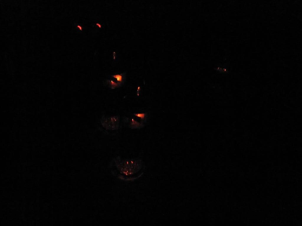 Hammond tubes glowing in the dark